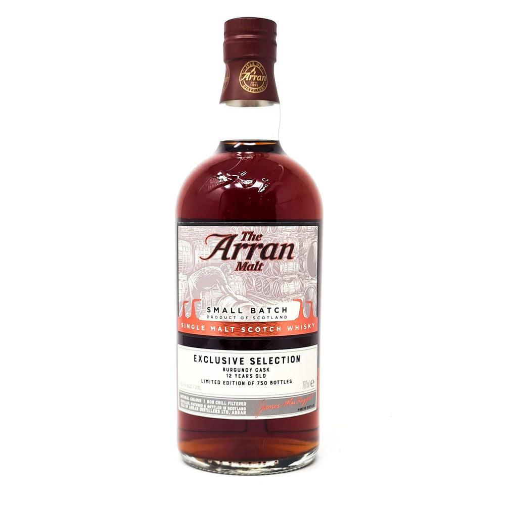 Arran Small Batch 12 Year Old Burgundy Cask 70cl, 53.6% ABV Whisky Old and Rare Whisky