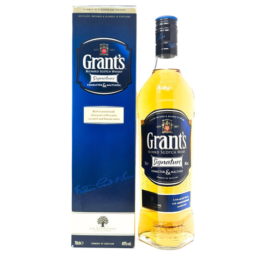 Grant's Signature Blended Whisky 70cl, 40% ABV Whisky Old and Rare Whisky