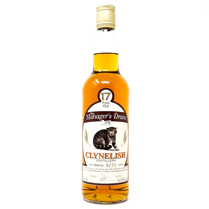 Clynelish 17 Year Old Manager's Dram Scotch Whisky, 70cl, 61.8% ABV