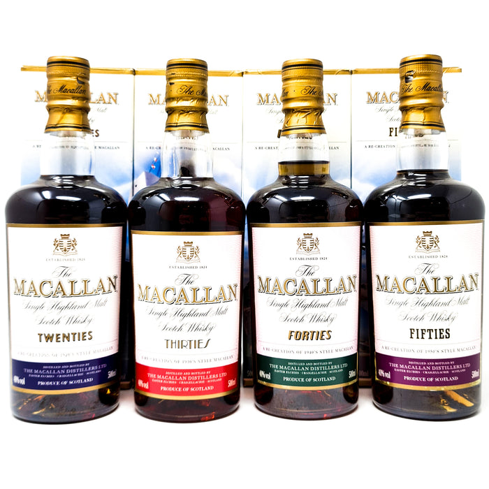 Macallan Decades Twenties, Thirties, Forties & Fifties 50cl