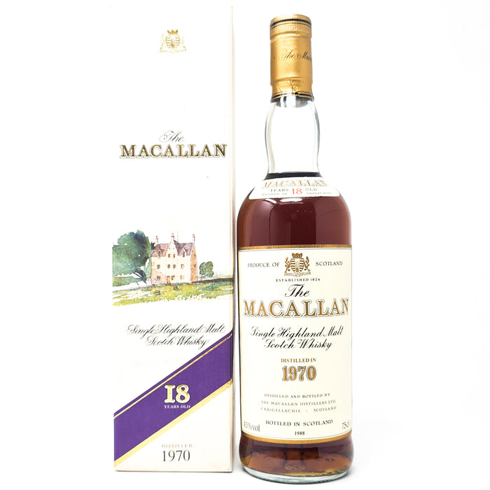 Macallan 1970 18 Year Old Scotch Whisky, 75cl, 43% ABV