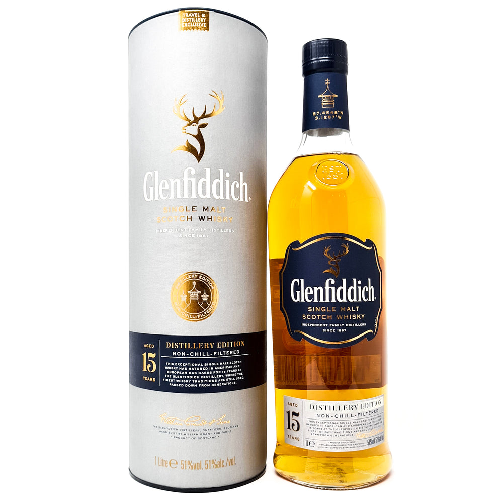 Glenfiddich 15 Year Old Distillery Edition 1 Litre, 51% ABV