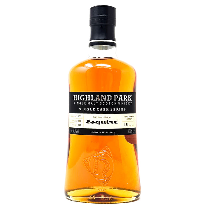 Highland Park 15 Year Old Esquire Single Cask 2003 70cl, 60.3% ABV
