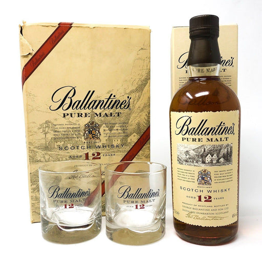 Ballantine's Pure Malt 12 Year Old Gift Set Whisky Old and Rare Whisky