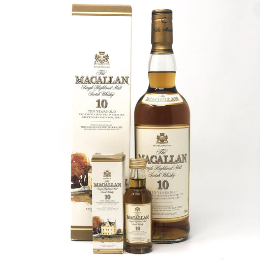 Macallan 10 Year Old with Matching Mini (Old Style) Whisky Old and Rare Whisky