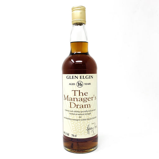 Glen Elgin 16 Year Old The Manager's Dram 70cl Whisky Old and Rare Whisky