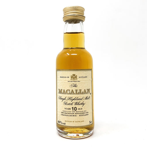 Macallan 10 Year Old 40% ABV 5cl Miniature Whisky Old and Rare Whisky