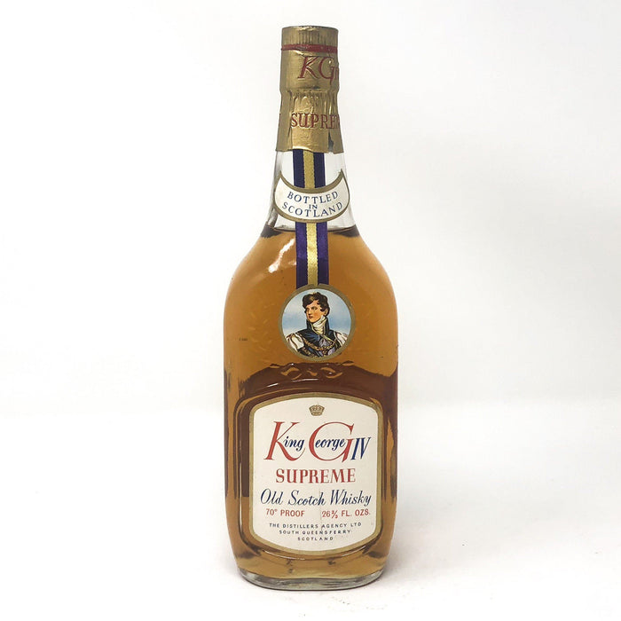 King George IV Supreme Old Scotch Whisky Whisky Old and Rare Whisky