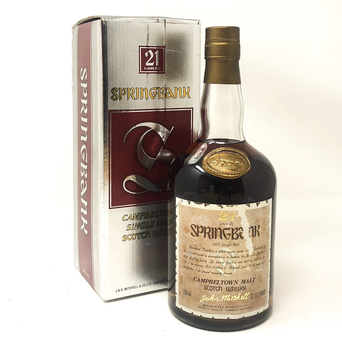 Springbank 21 Year Old 75cl Whisky Old and Rare Whisky