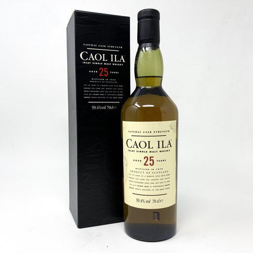 Caol Ila 25 Year Old Natural Cask Strength Whisky Old and Rare Whisky