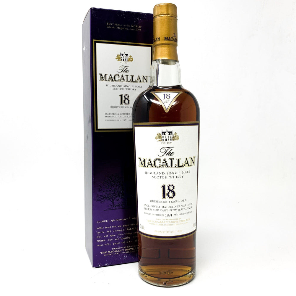 Macallan 18 Year Old 1991 Whisky Old and Rare Whisky