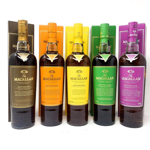Macallan Edition No 1 - 5 Whisky Old and Rare Whisky