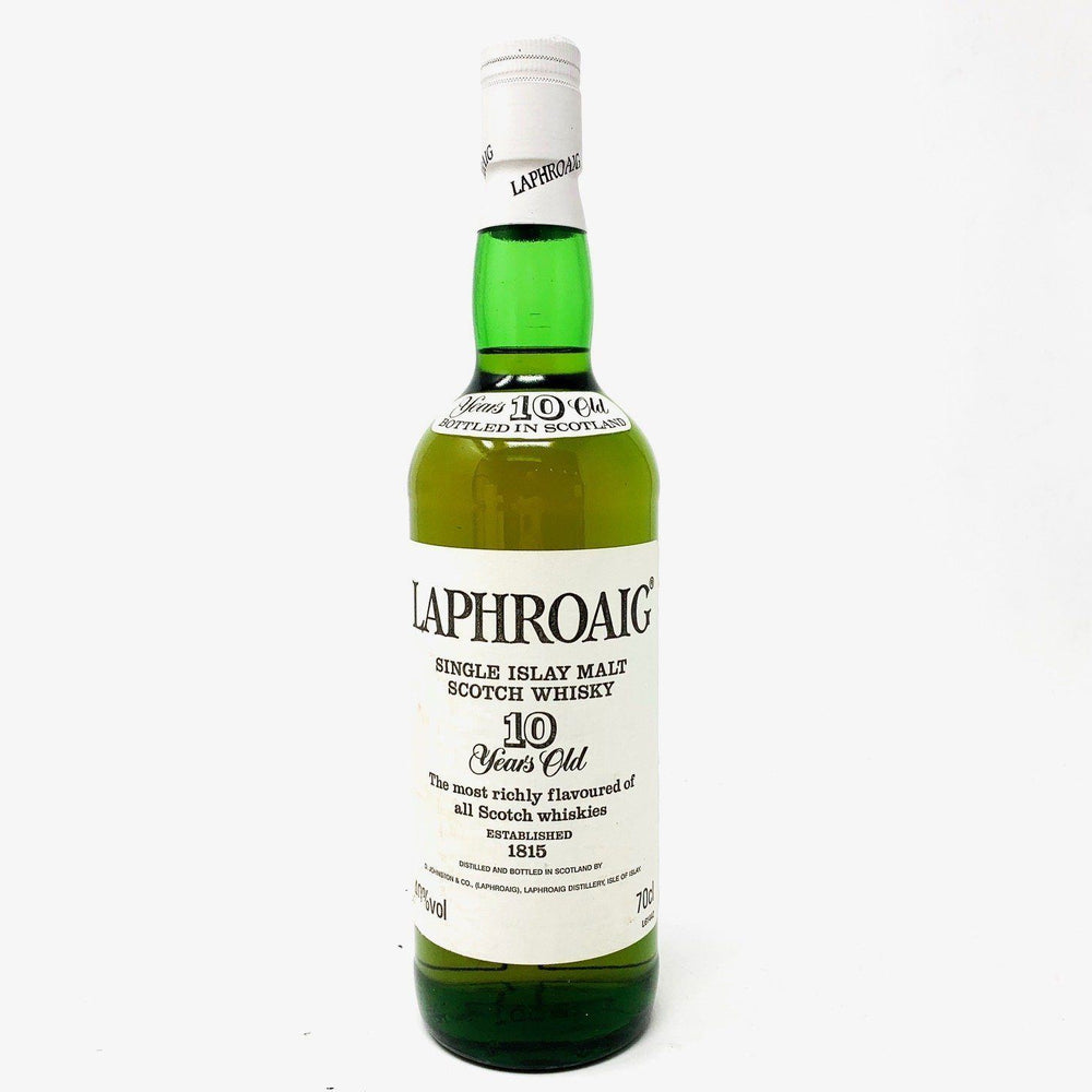 Laphroaig 10 Year Old Pre Royal Warrant 70cl Whisky Old and Rare Whisky
