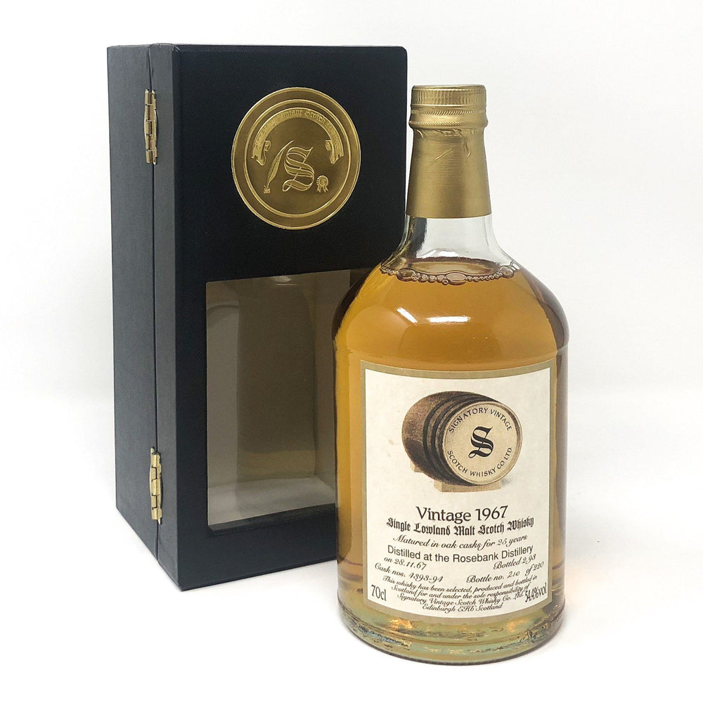 Rosebank 1967 Signatory Vintage 25 Year Old Whisky Old and Rare Whisky