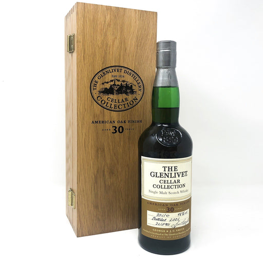 Glenlivet 30 Year Old Cellar Collection American Oak Whisky Old and Rare Whisky