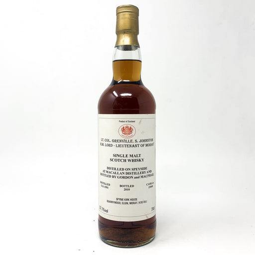 Macallan 1991 Gordon and Macphail Lieutentant of Moray Single Cask