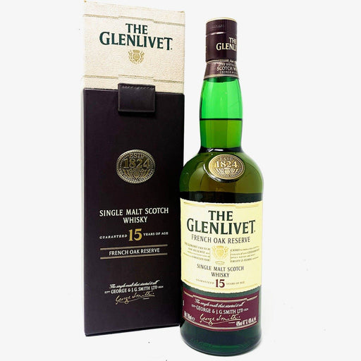 Glenlivet 15 Year Old French Oak Reserve Whisky Old and Rare Whisky