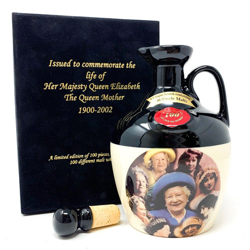 Rutherford's 100 Single Malt Blend Decanter Queen Mother 1900-2002 Whisky Old and Rare Whisky