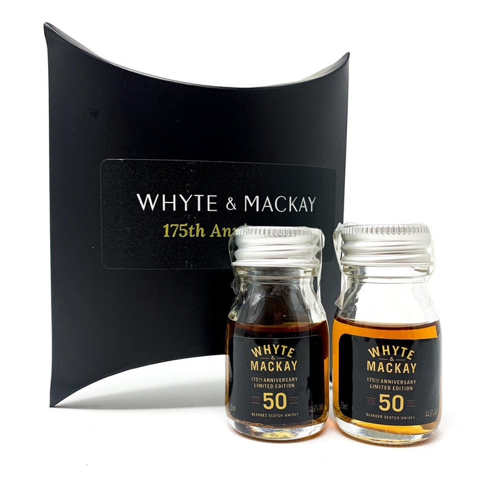 Whyte & Mackay 50 Year Old 2 x 25cl Miniatures Whisky Old and Rare Whisky