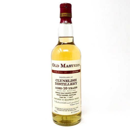 Clynelish 10 Year Old Cask Strength Old Masters Whisky Old and Rare Whisky