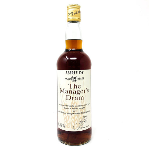 Aberfeldy 19 Year Old The Manager's Dram Old and Rare Whisky