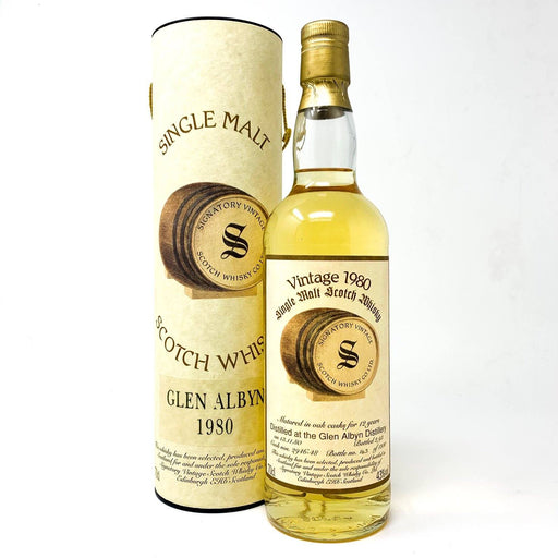 Glen Albyn 1980 Signatory Vintage 12 Year Old Whisky Old and Rare Whisky