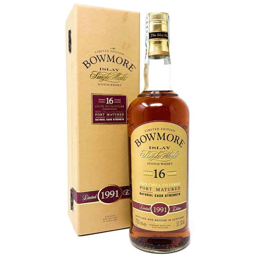 Bowmore 16 Year Old Cask Strength Limited Edition 1991 Whisky Old and Rare Whisky