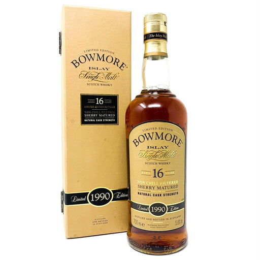 Bowmore 16 Year Old Cask Strength Limited Edition 1990 Whisky Old and Rare Whisky