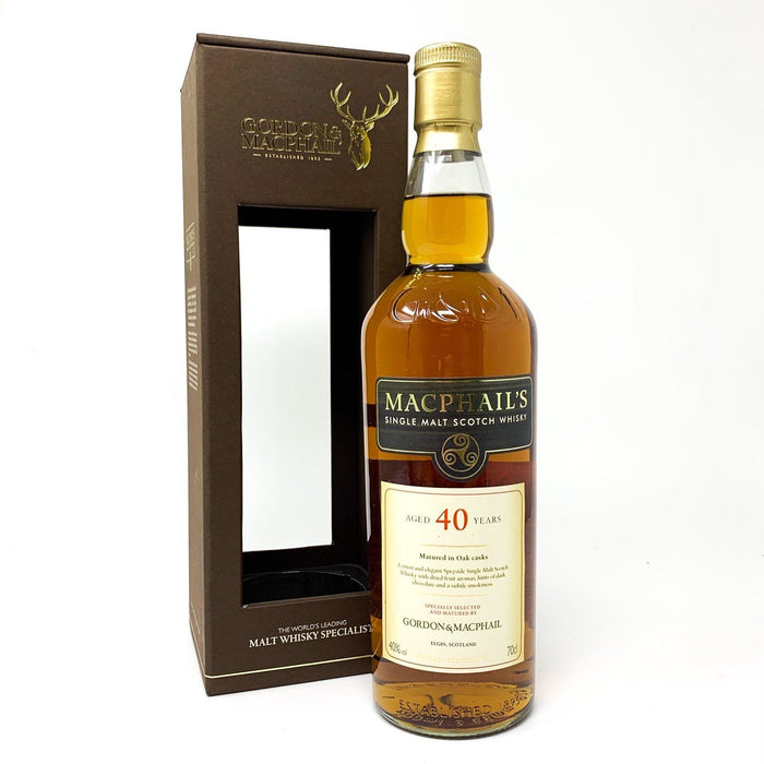 Macphail's 40 Year Old Speyside Single Malt Whisky Old and Rare Whisky