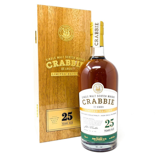 Crabbie 25 Year Old Sherry Cask Scotch Whisky Whisky Old and Rare Whisky