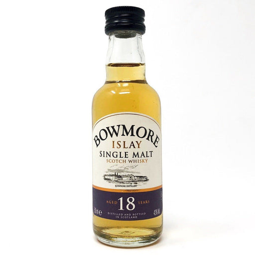 Bowmore 18 Year Old 43% ABV 5cl Miniature Old and Rare Whisky