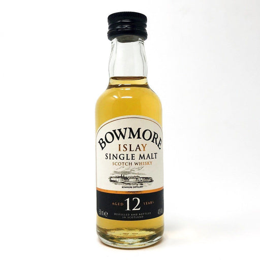 Bowmore 12 Year Old 43% ABV 5cl Miniature Whisky Old and Rare Whisky