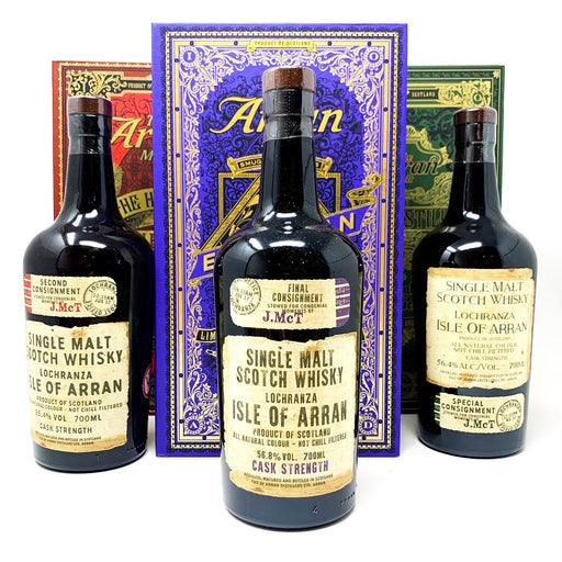 Arran Smuggler Series Volumes 1, 2 & 3 Whisky Old and Rare Whisky