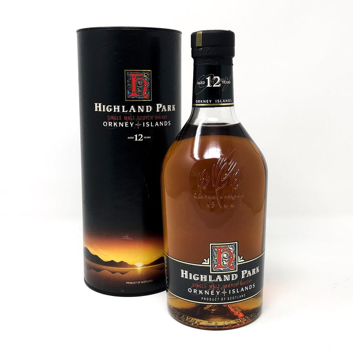 Highland Park 12 Year Old Dumpy 1 Litre Whisky Old and Rare Whisky