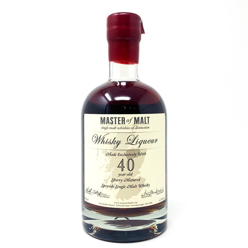 Master of Malt 40 Year Old Whisky Liqueur 70cl Whisky Old and Rare Whisky