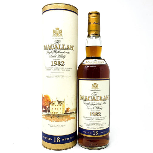 Macallan 18 Year Old 1982 Single Malt Whisky 70cl Whisky Old and Rare Whisky
