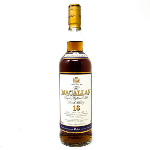 Macallan 18 Year Old 1984 Single Malt Whisky 70cl Whisky Old and Rare Whisky