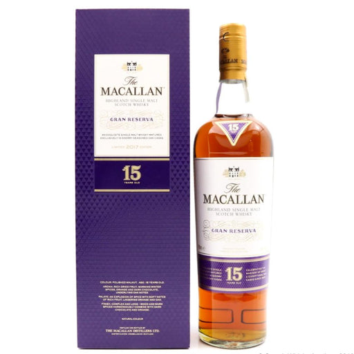 Macallan Gran Reserva 15 Year Old Scotch Whisky 2017 Whisky Old and Rare Whisky