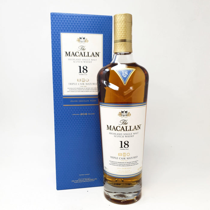 Macallan 18 Year Old Triple Cask 2018 Release Whisky Old and Rare Whisky