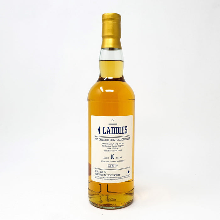 Port Charlotte 10 Year Old 4 Laddies Private Cask Bottling Cask Strength Whisky Old and Rare Whisky