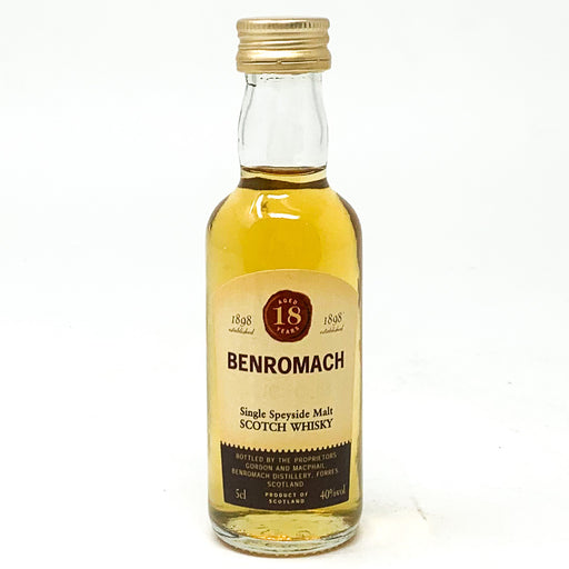 Benromach 18 Year Old Scotch Whisky, Miniature, 5cl, 40% ABV