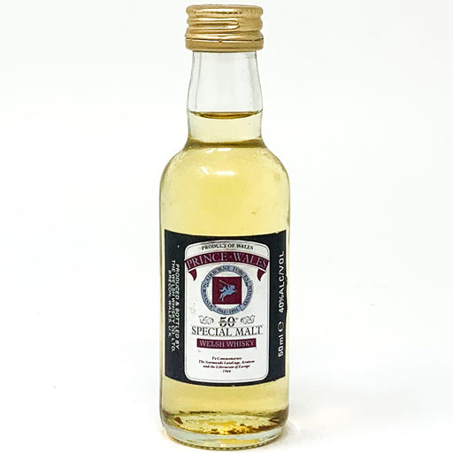 Prince Wales Special Malt Welsh Whisky, Miniature, 5cl, 40% ABV