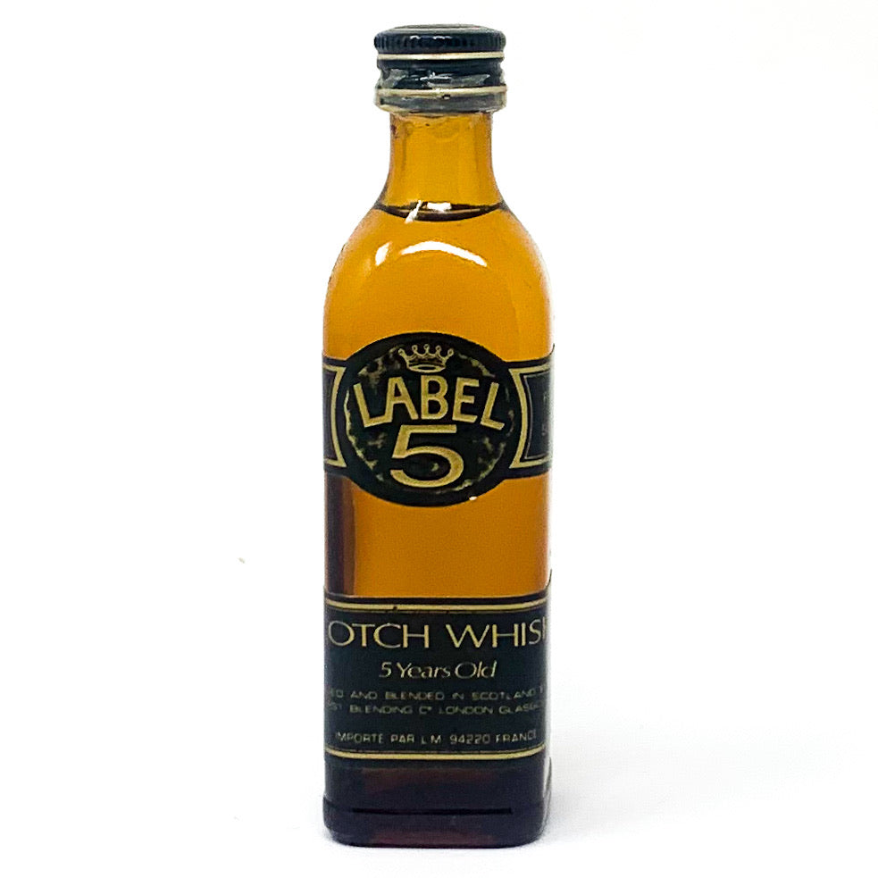 Label 5, 5 Year Old Scotch Whisky, Miniature, 5cl, 40% ABV