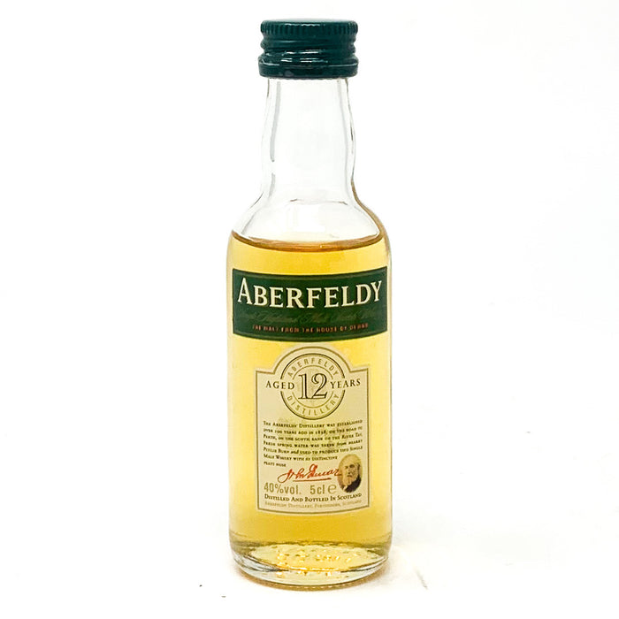 Aberfeldy 12 Year Old Scotch Whisky, Miniature, 5cl, 40% ABV