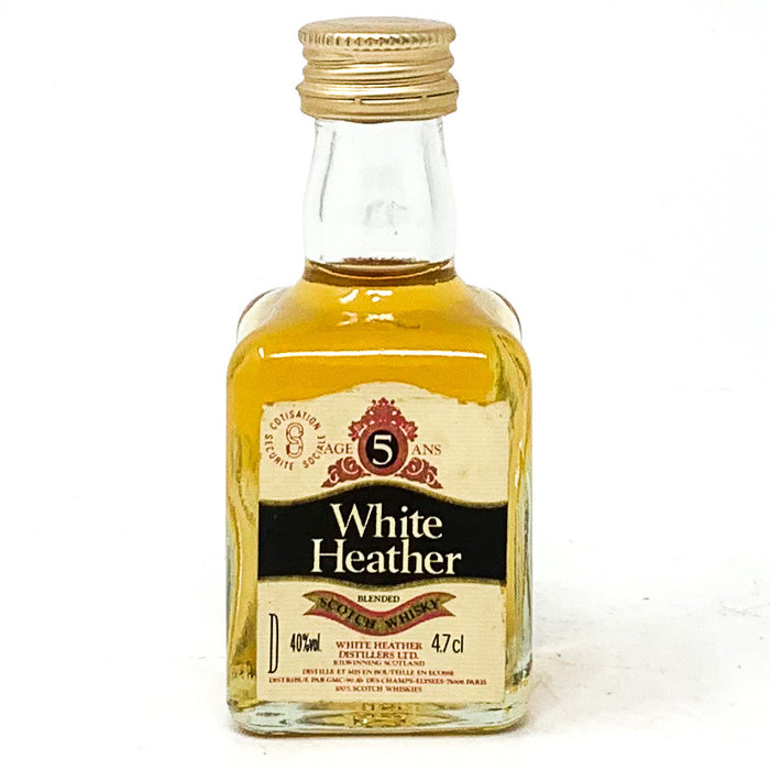 White Heather 5 Year Old Blended Scotch Whisky, Miniature,  4.7cl, 40% ABV