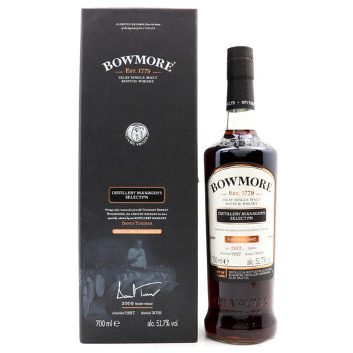 Bowmore Distillery Manager's Selection Whisky Old and Rare Whisky