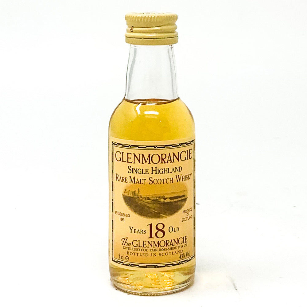 Glenmorangie 18 Year Old Scotch Whisky, Miniature, 5cl, 43% ABV