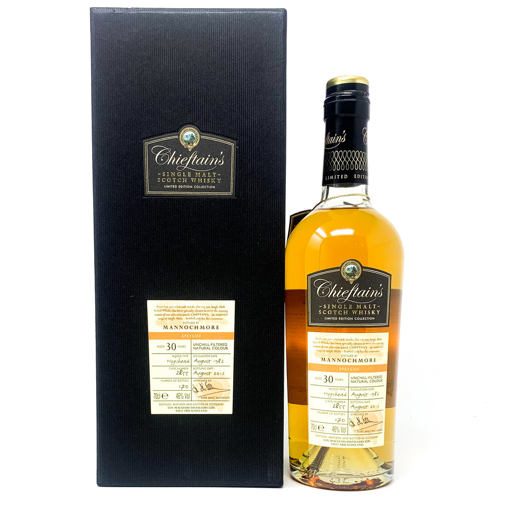 Mannochmore 30 Year Old Chieftan's Limited Edition, 70cl, 46% ABV