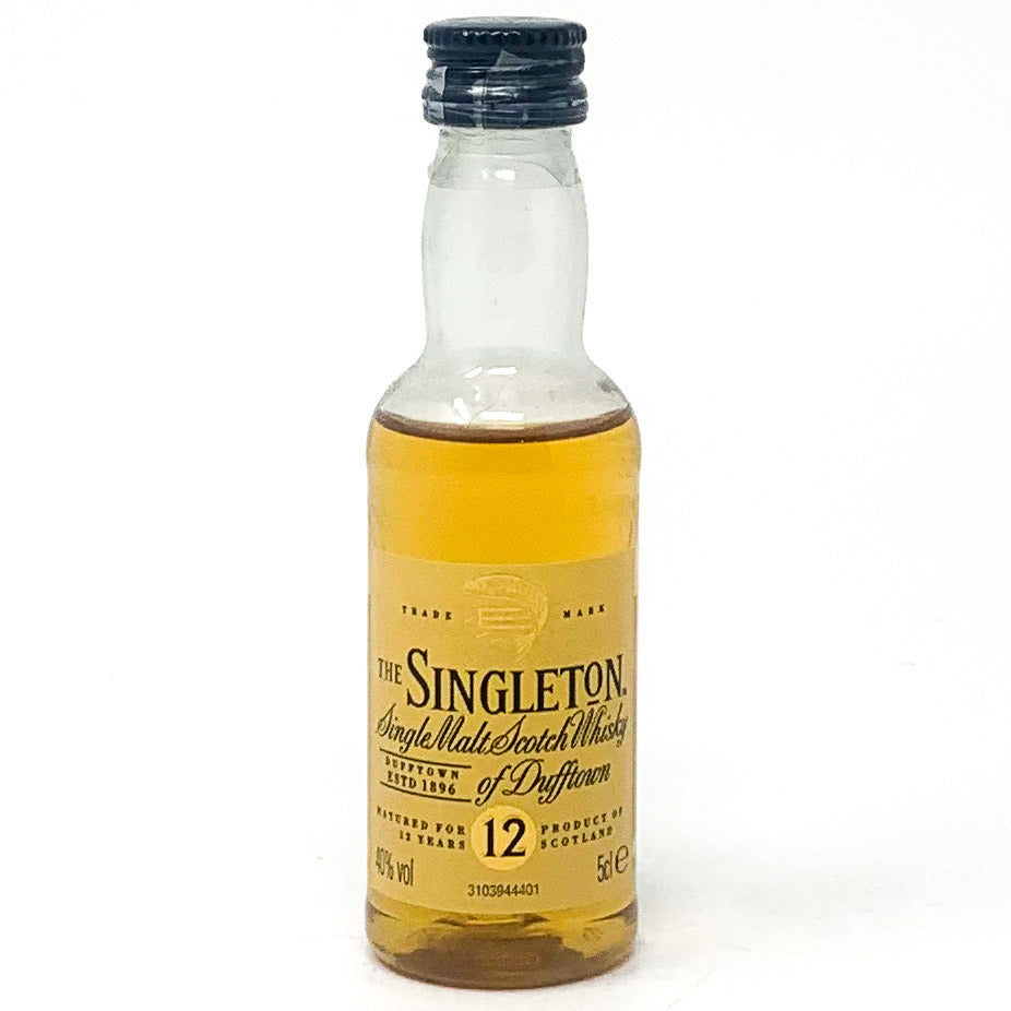 The Singleton of Dufftown 12 Year Old Single Malt Scotch Whisky, Miniature, 5cl, 40% ABV