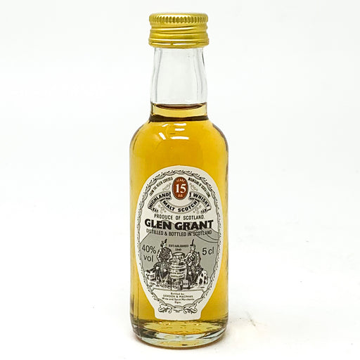 Glen Grant 15 Year Old Scotch Whisky, Miniature, 5cl, 40% ABV